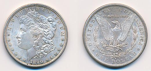 Valør: 1$ - USA - Årstall: 1890