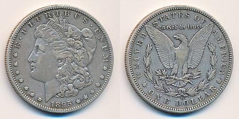 Valør: 1$ - USA - Årstall: 1895