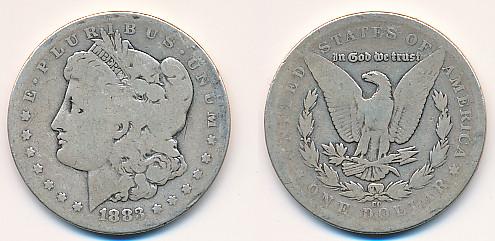 Valør: 1$ - USA - Årstall: 1883