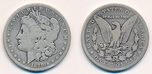 Valør: 1$ - USA - Årstall: 1889