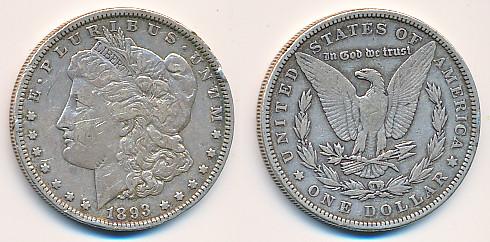 Valør: 1$ - USA - Årstall: 1893
