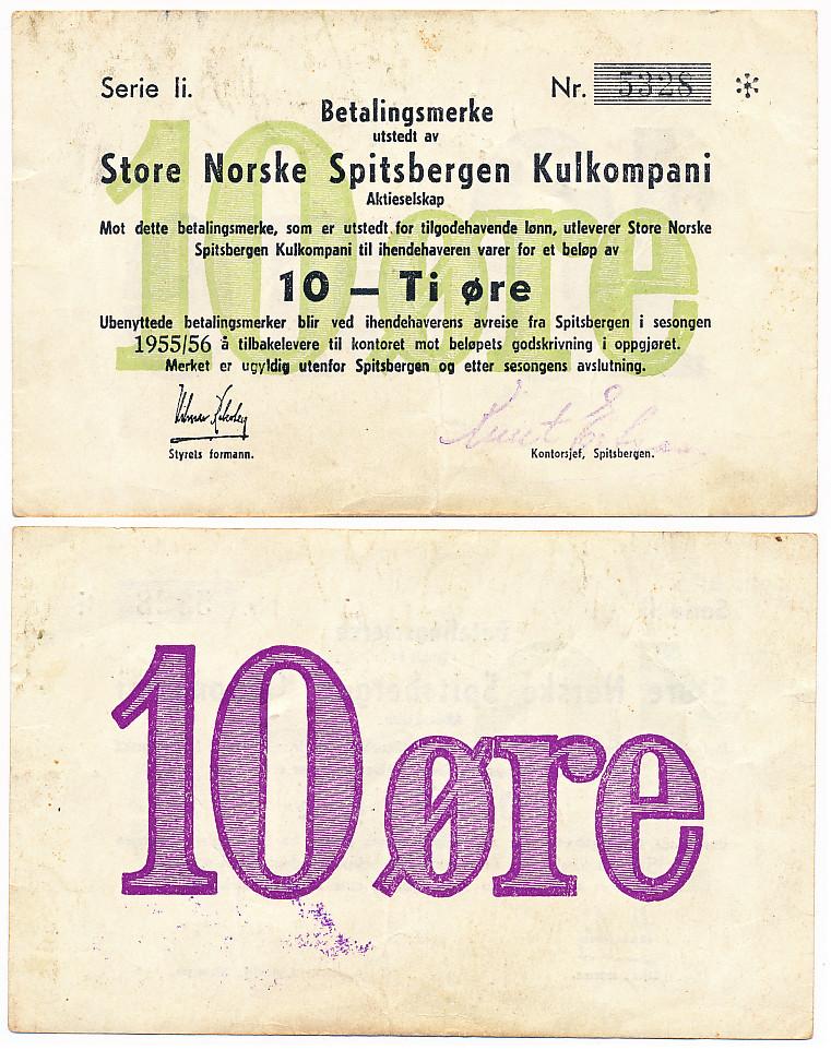 10 øre Store Norske