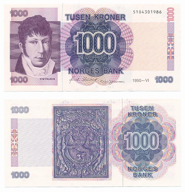 1000 Kr 1990