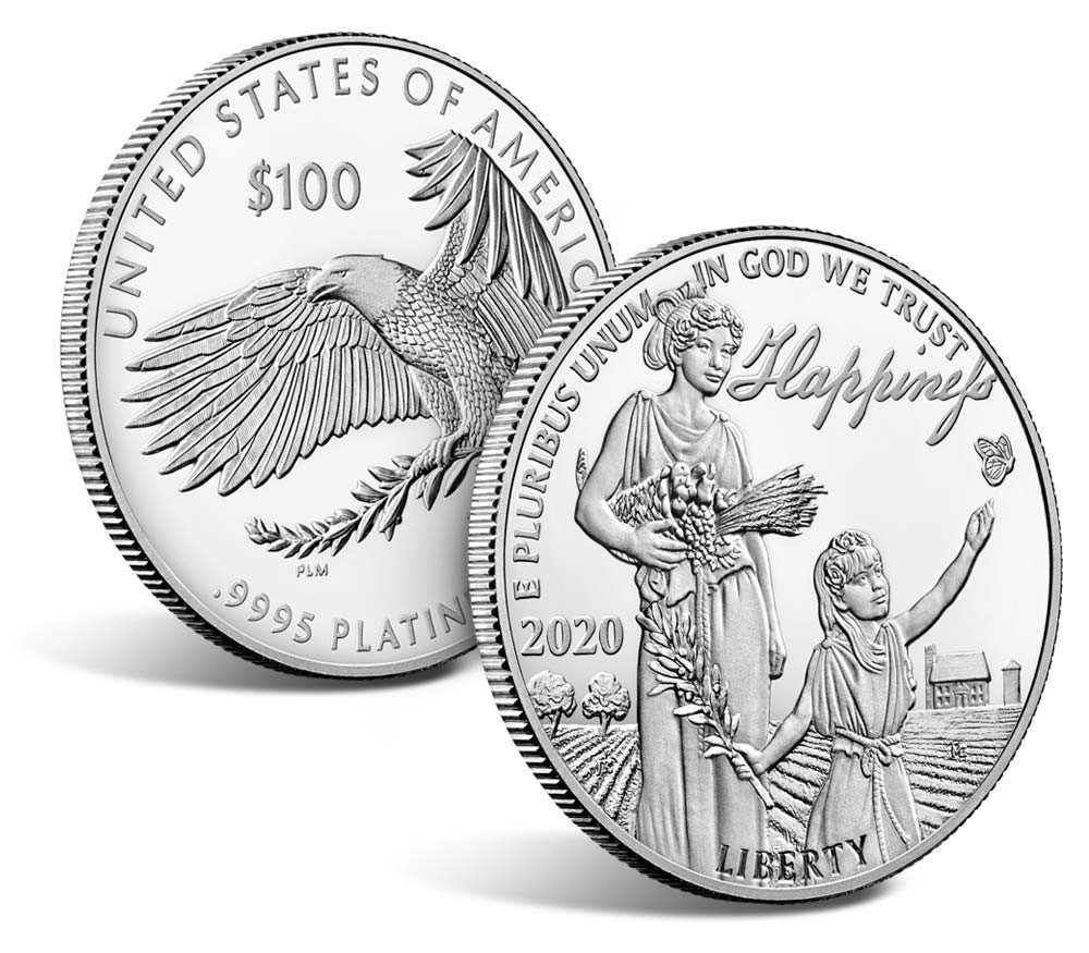 Valør: 100 Dollar - Platina mynt fra USA - Årstall: 2020