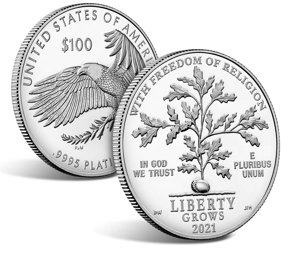 Valør: 100 Dollar - Platina mynt fra USA - Årstall: 2021