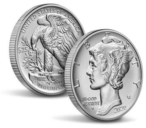25$ Palladium mynt fra USA 2020 UNC