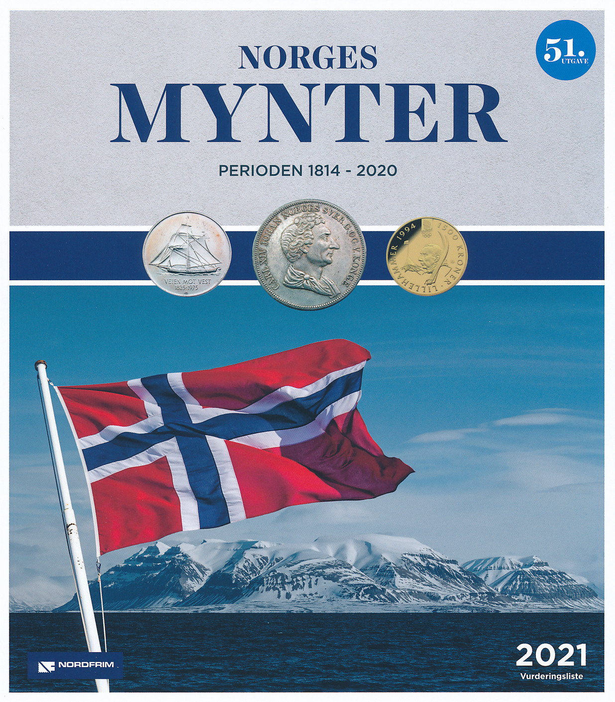 Norges Mynter 1814 til 2021 utgave 51 denne katalogen er den nyeste utgaven