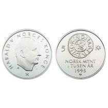 5 Kr 1995 Norsk Mynt 1000 år