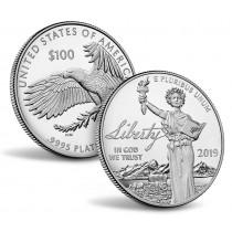 100$ Platina mynt fra USA 2019 Proof