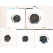 5 stk mynter fra Antikken - Lot 1 av 12