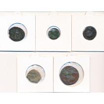 5 stk mynter fra Antikken - Lot 2 av 12