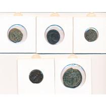 5 stk mynter fra Antikken - Lot 3 av 12