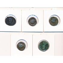 5 stk mynter fra Antikken - Lot 4 av 12