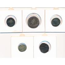 5 stk mynter fra Antikken - Lot 8 av 12