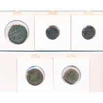 5 stk mynter fra Antikken - Lot 10 av 12