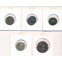 5 stk mynter fra Antikken - Lot 11 av 12