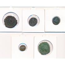 5 stk mynter fra Antikken - Lot 12 av 12