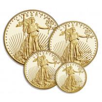 American Eagle sett med 4 stk Gull mynter fra USA 2020 Proof