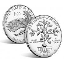 100$ Platina mynt fra USA 2021 Proof