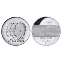 100 kr 2005 Hundreårsmynten Nr 3
