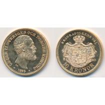 10 kr Gullmynt fra Sverige 1895