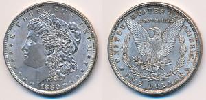 Valør: 1$ - USA - Årstall: 1880
