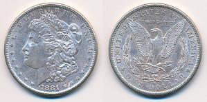 1$ 1881 USA Dollar