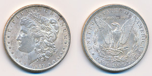 1$ 1889 USA Dollar