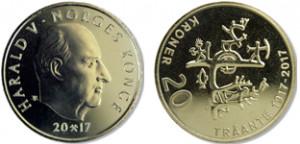 Valør: 20 kr - Norge - Årstall: 2017
