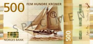 Valør: 500 Kr - Norge - Årstall: 2018