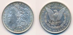 Valør: 1$ - USA - Årstall: 1881