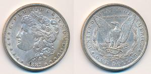 Valør: 1$ - USA - Årstall: 1887