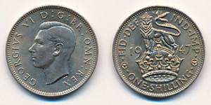 Valør: 1 Shilling - UK - Årstall: 1947