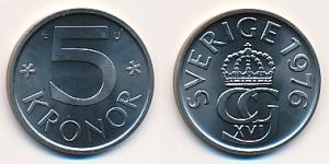 Valør: 5 kronor - Sverige - Årstall: 1976