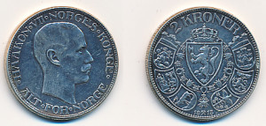 Valør: 2 kr - Norge - Årstall: 1915