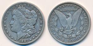 Valør: 1$ - USA - Årstall: 1882