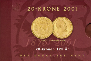 Valør: 20 kr Stjernemynten - Årstall 2001