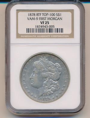 1$ 1878 Morgan 8TF - VAM-9