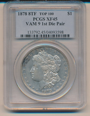 1$ 1878 Morgan 8TF - VAM-9