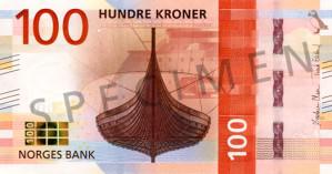 Valør: 100 Kr - Norge - Årstall: 2017