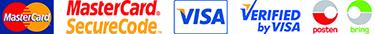 Mastercard Visa Posten Bring
